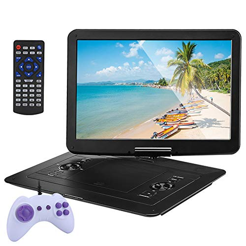 Zshxf 2019 Upgrade 25 Inch Portable Dvd Player With 270° 16 Inch Swivel Screen, Best Gift For Kids, Support Usb/sd Slot,mobile Dvd Player For Car Direct Play In Formats Avi/mp3/jpeg/rmvb