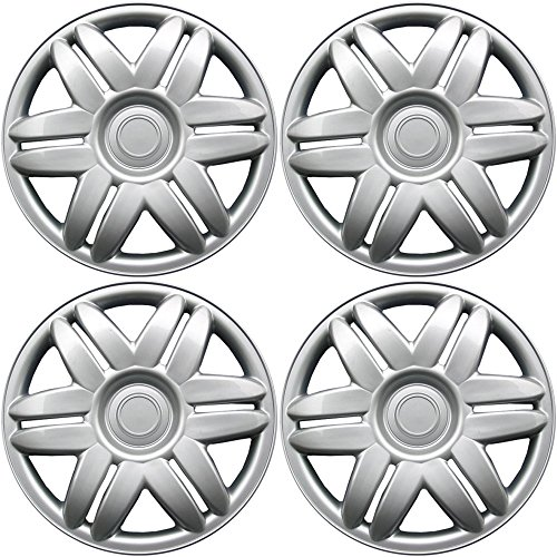 15 Inch Hubcaps Best For 1988 2001 Toyota Camry (set Of 4) Wheel Covers 15in Hub Caps Silver Rim Cover Car Accessories For 15 Inch Wheels Snap On Hubcap, Auto Tire Replacement Exterior Cap