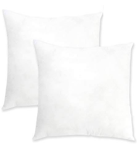 """22""""x22"""" Pillow Inserts Set Of 2 Oraniful Square Throw Pillows Euro Decorative Cushion Inner Nonwovens Cover 3d Cotton Best Filling For Pillow Of Couch/bed/indoor/office 55cm X 55cm"""
