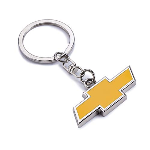Acgoing Metal Keychain Keyrings Metal Keychain Keyrings 3d Chrome Premium Metal Key Chains Key Rings Wtih Car Logo Best For Gifts (chevrolet)