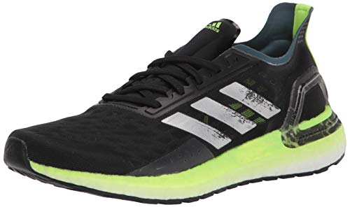 Adidas Men's Ultraboost Personal Best Running Shoe, Black/silver/signal Green, 10.5