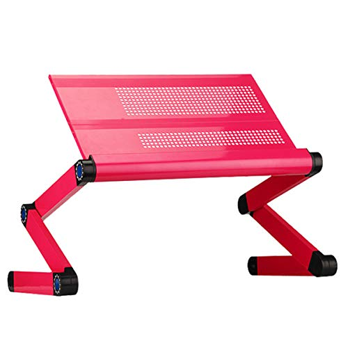 Adjustable Laptop Stand Use In Bed Recliner/sofa Best Gift For Friend Men Women Student Couch Lap Tray Aluminum Table For Computer Built In Big Fans Mouse Pad&usb Cord (rose Red)