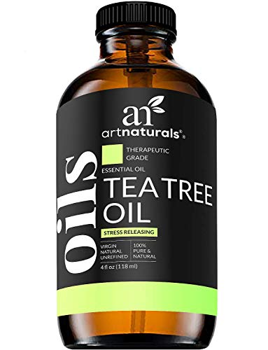 Artnaturals Tea Tree Essential Oil 4oz 100% Pure Oils Premium Melaleuca Therapeutic Grade Best For Acne, Skin, Hair, Nail Fungus, Face And Body Wash Aromatherapy & Diffuser
