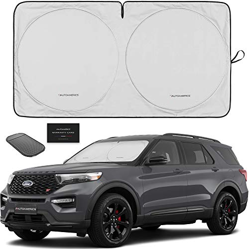Autoamerics 1 Piece Windshield Sun Shade Foldable Car Front Window Sunshade For Most Sedans Suv Truck Best Auto Heat Shield Reflector Cover Blocks Max Uv Rays And Keeps Your Vehicle Cool Medium