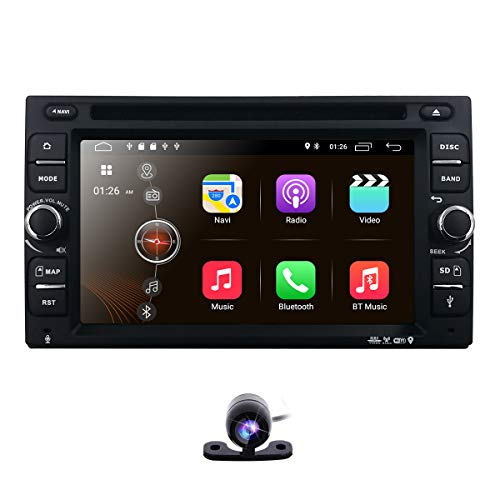 Backup Camera + Best Wifi Android 10 Quad Core 6.2 Inch Touch Screen Universal Car Dvd Cd Player Gps Double 2 Din Stereo Gps Navigation Free Map