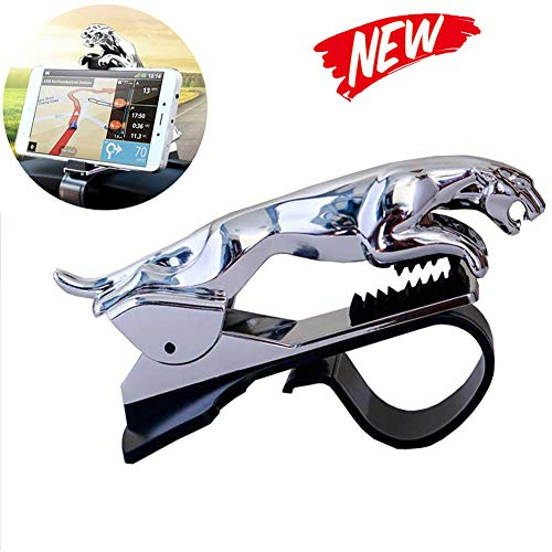 Banma Tech Car Leopard Form Dashboard Phone Holder 360 Degree Phone Mount Stand Bracket Best Xmas Gifts (silver)