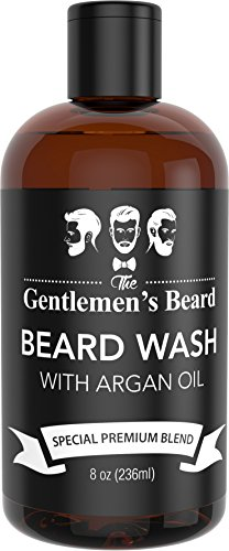 Beard Wash Shampoo With Argan Oil Aids Growth And Volume Beard Shampoo & Softener For Men With Essential Oils Best Beard Grooming Products For All Types Of Beards Handcrafted In The Usa