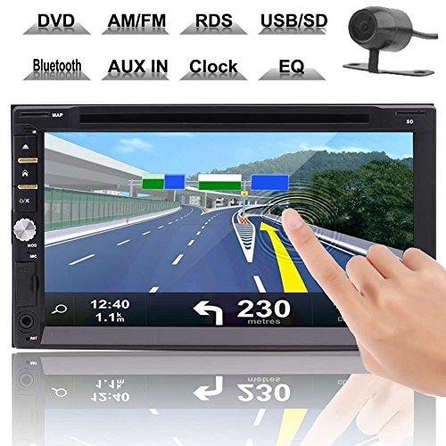 """Best Buy Car Stereo 6.95"""" Wince 8 Double 2 Din Car Auto Radio Audio Head Unit With Cd Dvd Player In Dash Gps Navigation Am/fm Touch Screen Bluetooth Subwoofer Av Out + Free Map Card & Wireless"""
