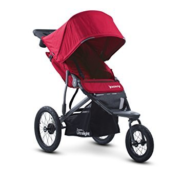 Best Jogger Ultralight Baby Stroller, Car Seat Compatible, Travel Systems Ready! For Infants, Toddlers And Kids, Red Color + Free Strap On Handy Hooks!