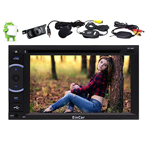 """Best Wifi Model Android 6.0 Quad Core 6.2"""" Capacitive Touch Screen Car Dvd Cd Player Gps Navigation 2 Din Stereo System Support Bluetooth Autoradio Fm/am External Micro Obd Usb + Free Camera"""