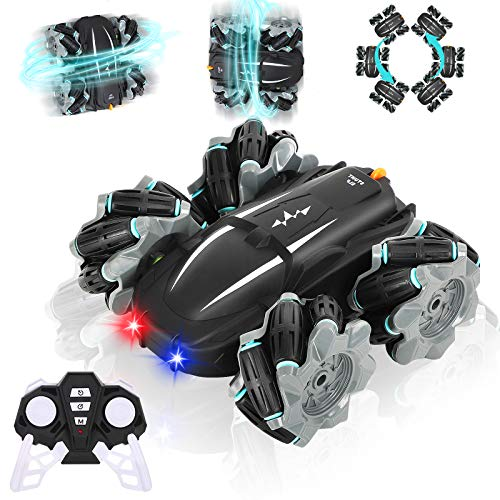 Biulotter Rc Stunt Car, Remote Control Racing Car Rc Off Road 360° Rotation Drift Stunt Elf Rechargeable Vehicle With Cool Lights,flexible Steering,anti Interference 4wd Rc Car Best Gift For Kids