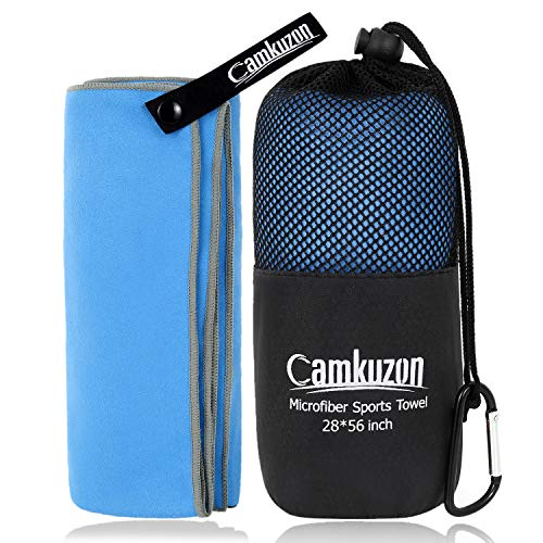 Camkuzon Microfiber Towel Quick Dry Super Absorbent Travel Sports Towel Ultra Compact Lightweight Best For Camping, Beach, Gym, Yoga, Hiking, Swimming 4 Sizes