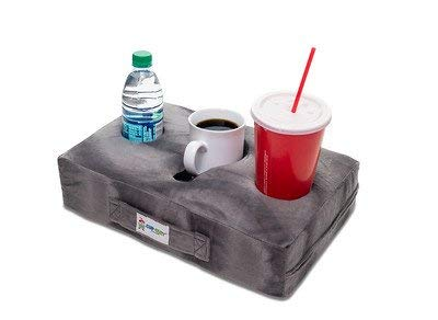 Cup Cozy Pillow (gray) As Seen On Tv The World's Best Cup Holder! Keep Your Drinks Close And Prevent Spills. Use It Anywhere Couch, Floor, Bed, Man Cave, Car, Rv, Park, Beach And More!