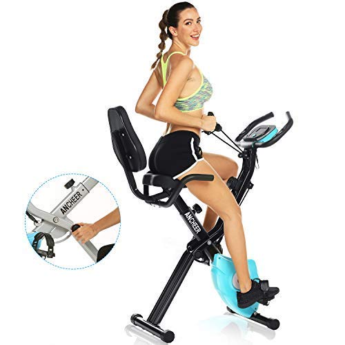 Drohneks 3 In 1 Exercise Bike, Stationary Foldable Magnetic Upright Recumbent Cycling,adjustable Resistance,best Folding Indoor Exercise Machine With App And Arm Resistance Bands Perfect For Home Use