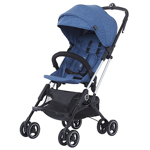 Evolur Voyager Stroller: Navy | One Hand Easy Fold | Ultra Lightweight Compact Baby Stroller | Best Used For Airplane & Car Travel | Safe, Comfortable & Smooth Ride | Carries Up To 50 Pounds |