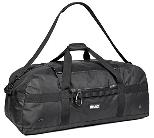Fitdom Heavy Duty Extra Large Sports Gym Equipment Travel Duffel Bag W/adjustable Shoulder & Compression Straps. Perfect For Team Coaches & Best For Soccer Baseball Basketball Hockey Football & More