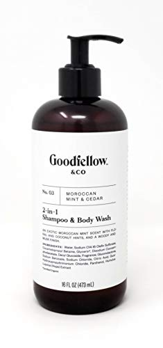 Goodfellow & Co No. 03 Moroccan Mint & Cedar 2 In 1 Shampoo & Body Wash Men's Scented Shampoo And Body Wash Helps You Look And Smell Your Best