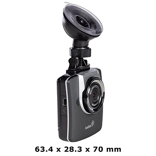 Ivation Dash Cam G19, 1296p Hd Video & Gps Recorder, 155° Wide Angle Lens, Motion Detection, G Sensor, 6 Glass Lens, Low Light Wdr & Hdr Dashcam, Best Car Camera