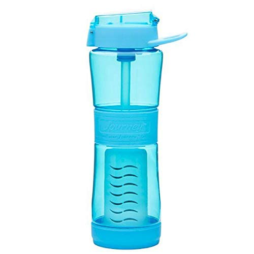 Journey Water Purifier Bottle Best Filtered Water Bottle For Travel, Hiking, Camping, Everyday, Survival Water Filter Bottle, Removes Bacteria, Virus, Parasites, Lead 250 Gal, 24 Oz Sky Blue