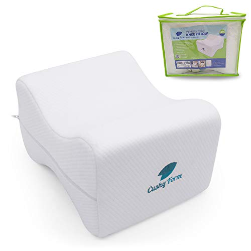 Knee Pillow For Side Sleepers Sciatic Nerve Pain Relief   Best For Pregnancy, Hip, Knee, Back And Spine Alignment   Memory Foam Orthopedic Leg Pillow Wedge With Washable Cover+free Storage Bag (lrg)