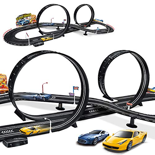 Maoxian Kids Toy Electric Powered Slot Car Race Track Set Boys Toys For 3 4 5 6 7 8 16 Years Old Boy Girl Best Gifts