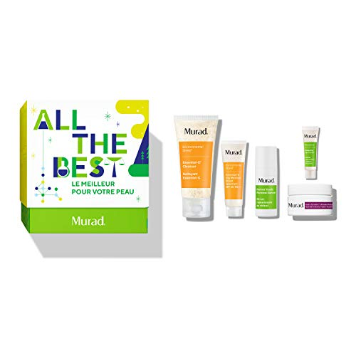 Murad All The Best Holiday Set With Trial Sizes Of Essential C Cleanser, Retinol Youth Renewal Serum, Hydro Dynamic Ultimate Moisture, Renewing Eye Cream And Essential C Day Broad Spectrum Spf 30
