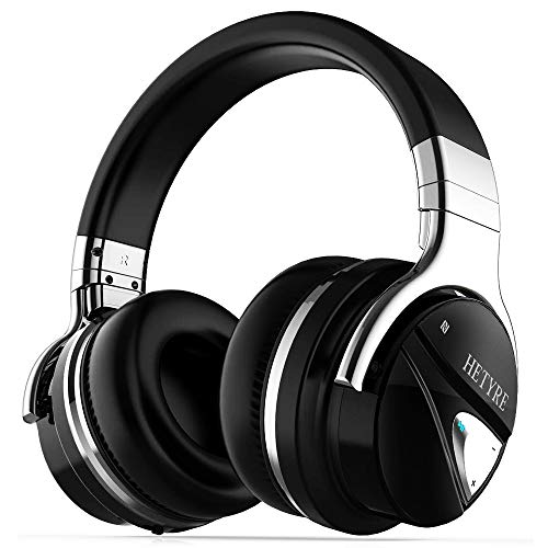 Over Ear Wireless Headphones, Hetyre Ht9 Active Noise Cancelling Bluetooth Headphones W/mic, Hi Fi Deep Bass Comfortable Protein Earpads, 36 Hours Playtime, Best For Men Travel Work Pc Cellphone