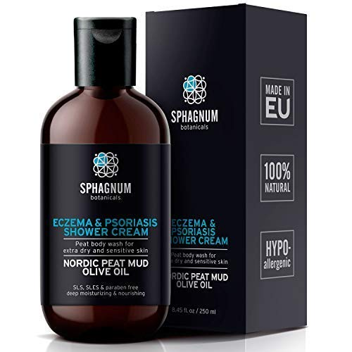 Psoriasis Body Wash & Cream 2in1 – 100% Natural Ph Balancing Acids And Olive Oil Shower Cream. No Sulfates/parabens, Deep Moisturizing Treatment For Very Dry &; Itchy Skin. Best For Relieving Eczema