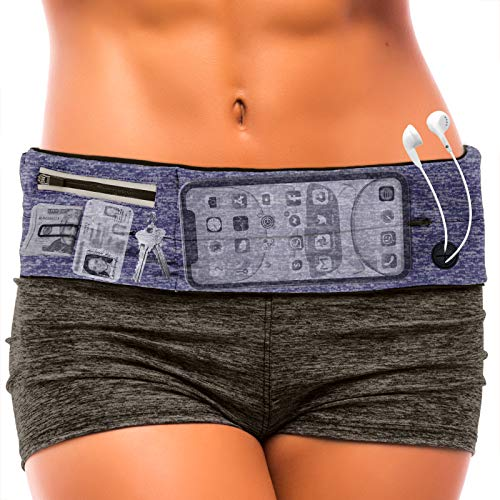 Running Belt : Best Waist Packs Fanny Pack Fits All Phones (blue) Workout Cell Phone Holder Pouch Bag Travel Money Belt Jogging Accessories. Gifts For Women Christmas Presents Gift Ideas For Mom & Her