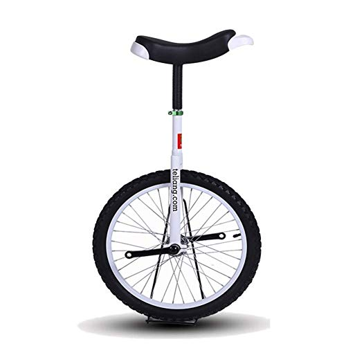 """Seveni 16"""" / 18"""" Excellent Unicycles Balance Bike For Kids/boys/girls, Larger 20"""" / 24"""" Freestyle Cycle Unicycle For Adults/man/woman, Best Birthday Gift (color, White, Size, 18 Inch Wheel."""
