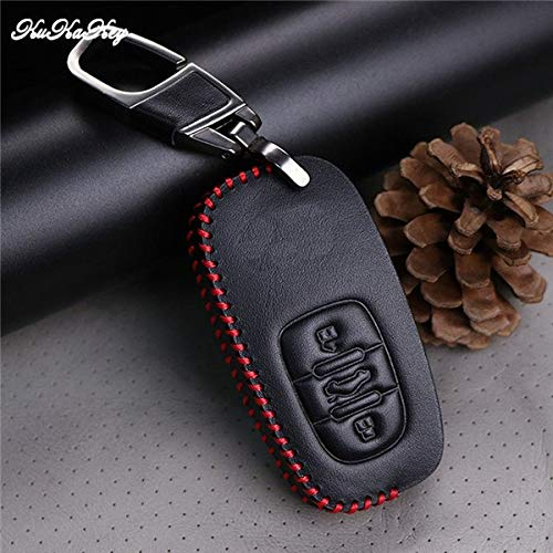 Shinebear Red Line Car Key Case Cover For Audi A1 A2 A3 A4 A5 A6 A7 Tt Q3 Q5 Q7 R8 S6 S7 S8 Key Shell Fob Best Birthday Present (color Name: 3button Red)