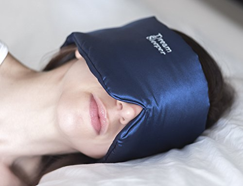 Sleep Masks For Sleeping Chronic Migraine | Women And Men | Large Straps | Best For Side And Back Sleep Mask | Silky Total Blackout Sleep Mask. Free Lifetime Replacements Dream Sleeper Mascara Dormir