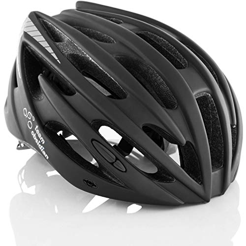 Teamobsidian Airflow Bike Helmet For Adult Men & Women And Youth/teenagers Cpsc Certified Bicycle Helmets For Road, Urban, Street Or Mountain Biking Best Cycling Gift Idea [ Black M/l ]