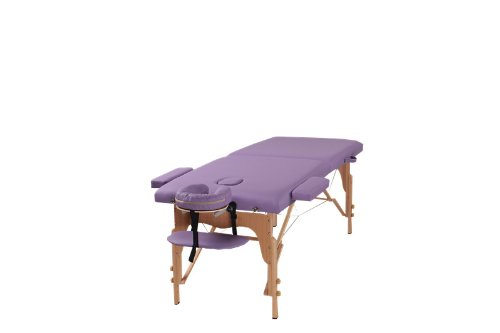 The Best Massage Two Fold Purple Portable Massage Table Pu Leather High Quality By Heaven Massage