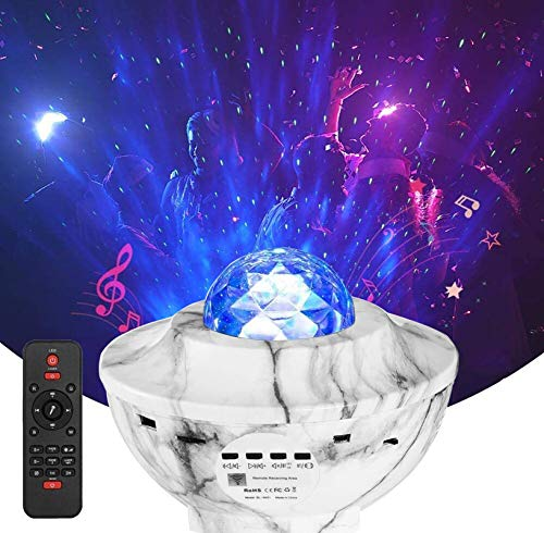 Ysd Night Light Star Projector, Sky Star Projector Remote Control Adjustable Light Projector With Bluetooth Speaker Built In Music Player Best Gift For Kids Party Room Decoration
