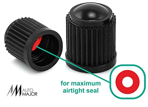 Automajor Car Tire Valve Caps Universal Tire Stem Covers Best For Cars, Suv, Bike, Bicycle, Trucks, Motorcycles Heavy Duty, Airtight, Leak Proof Seal, Screw On, Easy To Use Stem Caps 20 Pack Black