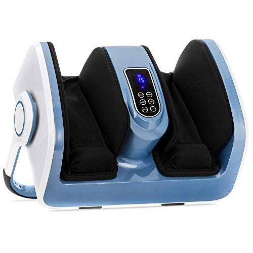 Best Choice Products Air Compression Reflexology Shiatsu Calf Foot Massager With Heat, For Therapeutic Deep Kneading, Blood Flow Circulation, Plantar Fasciitis, High Intensity Rollers, Nerve Pain