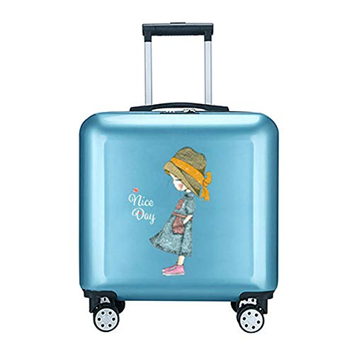 Carry On Luggage,kids Luggage With Wheels Lightweight Personalized Upright Hardshell Travel Suitcase 18in Rolling Side Trolley With Trolley Best Gifts For Girls Women For Travel School Business Trip,b