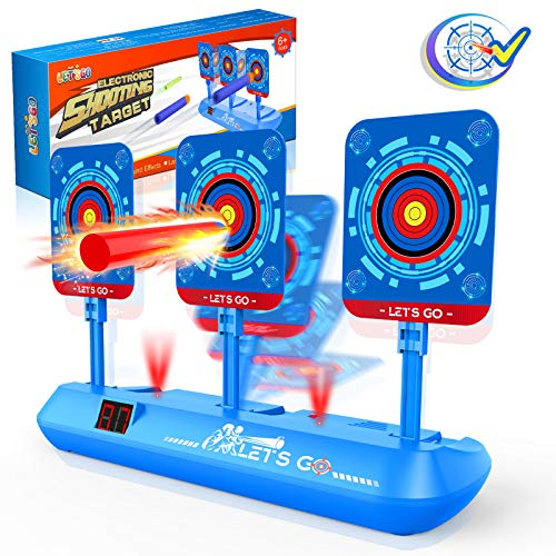 Cool Toys For 3 12 Year Old Boys, Auto electronic Shooting Target For Boys Toys Best Gifts For 5 12 Yeas Old Kids Toy Nerf Guns