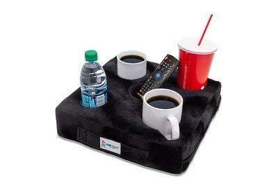 Cup Cozy Deluxe Pillow (black) As Seen On Tv The World's Best Cup Holder! Keep Your Drinks Close And Prevent Spills. Use It Anywhere Couch, Floor, Bed, Man Cave, Car, Rv, Park, Beach And More!