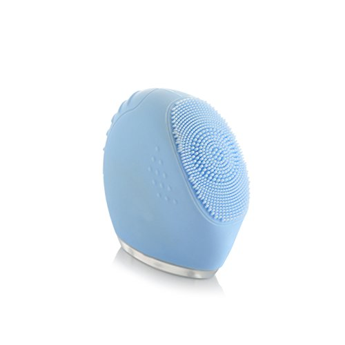 Facial Beauty Cleaning Brush,2018 Best Sell Ultrasonic Rechargeable Vibrating Sonic Skin Scrubber Facial Beauty Cleaning Brush Facial Vacuum Suction Facial Massage Machine For Oil Skin Blue