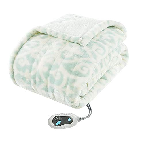 Heated Blanket. Best Heat Up Soft Portable Washable Winter Single Electric Lap Fleece Throw. Warm Wrap With Auto Timer For Home & Travel, Fishing. Children, Kids & Adults (blue)