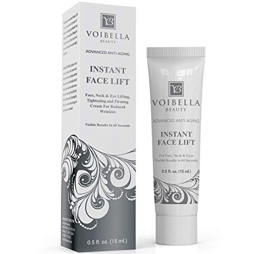Instant Face Lift Cream Best Eye, Neck & Face Tightening, Lifting & Firming Serum To Smooth Appearance Of Loose Sagging Skin, Puffiness, Fine Lines & Wrinkles Within 1 Minute (peptides & Stem Cells)