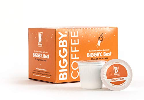 Medium Roast K Cups By Biggby Coffee | 12 Biggby Best Keurig Cups | Single Serve K Cups For Keurig Coffee Maker | Columbian Coffee Pods Bagged In Usa | Coffee With Caffeine | Enjoy In Mug Or Tumbler