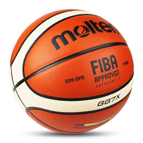 Molten Gg7x Offical Size #7 Pu Leather In/outdoor Training Basketball Match Ball