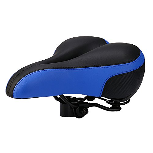 Rmeioel Universal Comfortable Waterproof Soft Padded Bike Seat Replacement Bicycle Saddle Premium Materials Center Cutout Fit Best For Exercise Outdoor Bicycles Mountain Bikes, Road Bikes (blue)