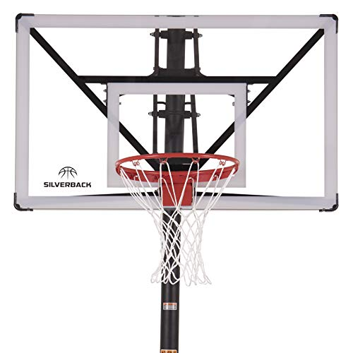 "Silverback Nxt 54"" In Ground Basketball Hoop With Adjustable Height Backboard And Quickplay Design"