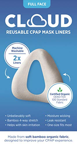 Small (see Sizing Chart In Gallery To Insure Best Fit) Fit Cloud Bamboo Organic Fabric Full Face (nose And Mouth) Cpap Mask Liner: Superior Comfort, Unbelievably Soft, Machine Washable, 2 Per Pack.