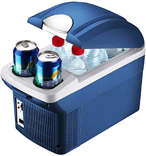 Smlzv Mini Fridge,8l Ac/dc Portable Thermoelectric Cooler And Warmer For Skincare,foods,medications,cosmetics,home And Travel Best Gift For Family (color : 12v Car Refrigerator, Size : 8l)