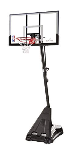 "Spalding Nba Hercules Portable Basketball Hoop 54"" Acrylic Backboard, Black Base"
